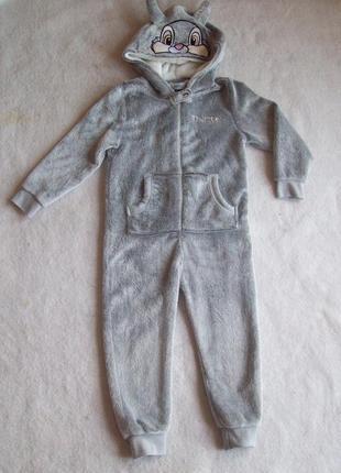 Пижама слип человечек заяц махра, рост 110  см.