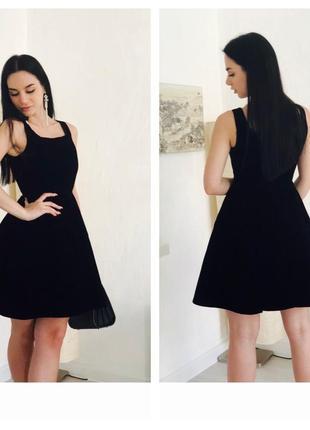 Платье бархатное чёрное {zara}2 фото