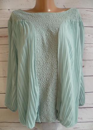 Шикарная блуза с кружевной вставкой  john rocha