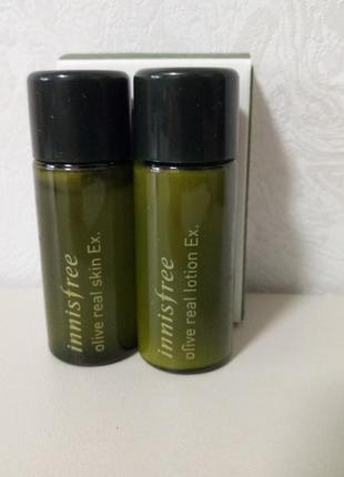 Набор миниатюр с экстрактом оливы innisfree olive real ex. dual kit
