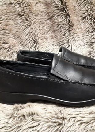 Туфли/мокасины кожа черные