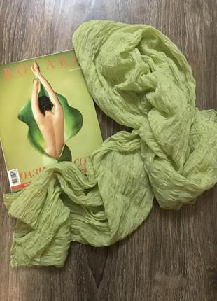Брендовий шовковий шарф