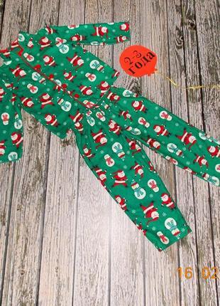 Флисовая пижама carters  для ребенка 2-3 года. 92-98 см