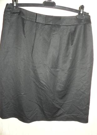 Черная юбка карандаш. замеры на фото. 48р