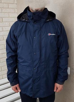 Berghaus aquafoil 3 in 1 куртка штормовка с флисовым подкладом оригинал (l) сост.новой