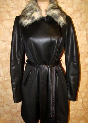 Шикарная курточка (тренч) под лазерную кожу р.т-2,m/l/xl