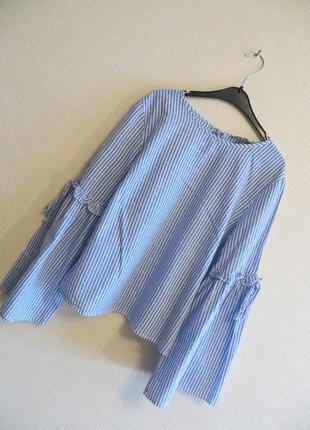Блуза в полоску primark (uk 14, р.l)