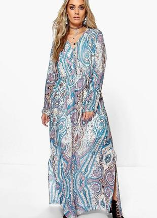 Платье-макси boohoo (uk 14, р.l)