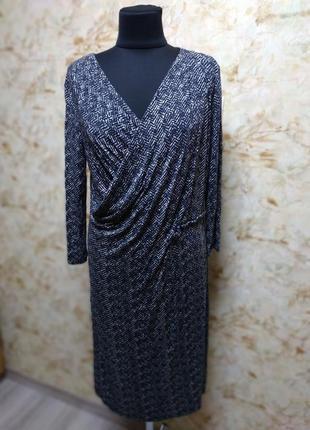 Очень классное стильное трикотажное платье, размер 44-46