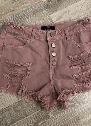 Рвані джинсові шорти mum
