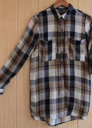 e67e5b5f144 Длинная рубашка в клетку ONLY