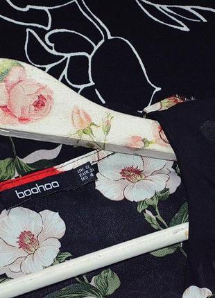 Шикарная блуза на запах в цветы4 фото