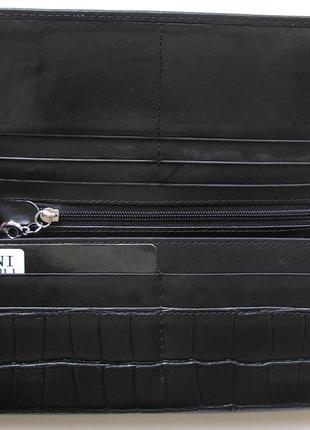 Большой кожаный кошелек крокодил fani, 100% натуральная кожа, есть доставка бесплатно4