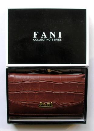 Кожаный кошелек портмоне крокодил fani, 100% натуральная кожа, есть доставка бесплатно1