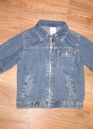 Куртка для мальчика джинсовая  5/6 лет 116см