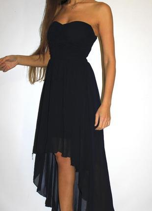 Шифоновое платье бюстье 6 удлиненная спинка -шикарное смотрится!