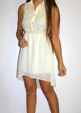 Шифоновое платье с вышивкой на груди - очень красивое !
