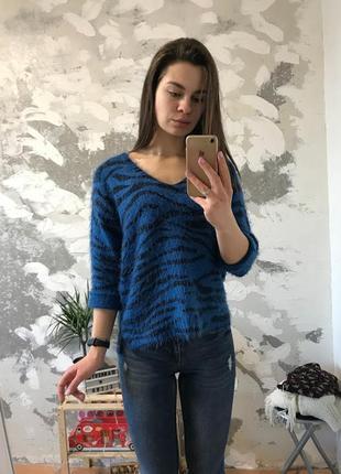 Оригинальный пушистый свитер {травка/тигр/леопард}