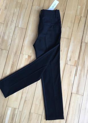 Разнофактурные брюки 7/8 and l