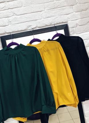 Легкие  шифоновые блузы италия крутая скидка