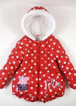 Зимняя фирменная куртка с пеппой peppa pig на 1,5 2 года, george