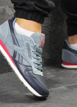 Кожаные замшевые мужские кроссовки в стиле reebok. 41-46