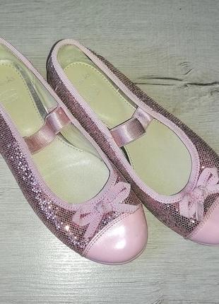 Туфли балетки кожа