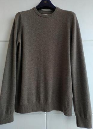 Шерстяной базовый свитер органического бренда howies с налокотниками