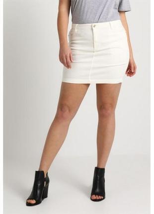 Стрейчева белая юбка мини missguided ms134