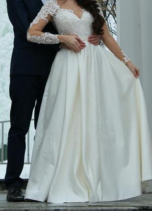 Свадебное платье / белое платье / вечернее платье / выпускное платье