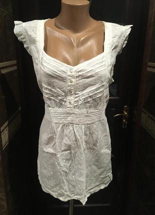 Коттоновая белая блуза