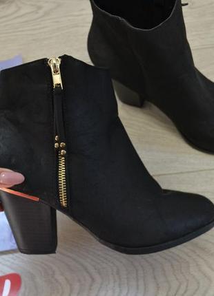 Стильные черные демисезонные ботинки на замочке,сапоги сапожки осень весна