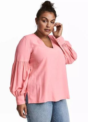 Большой размер. очень красивая блуза h&m с рукавами фонариками