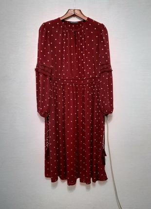 "Платье "" бордо "" большого размера"