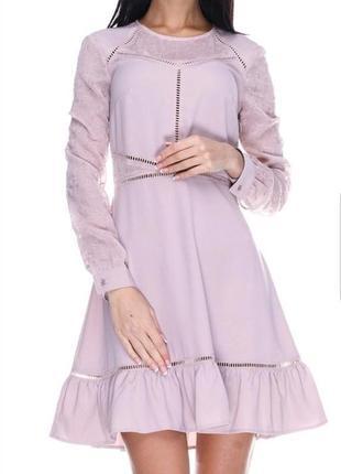 Красивое вечернее, коктейльное платье от h&m с вышивкой и воланами.4
