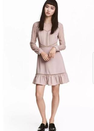 Красивое вечернее, коктейльное платье от h&m с вышивкой и воланами.6