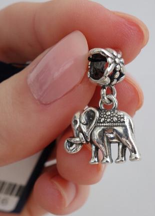 Серебряная бусина пандора слоник