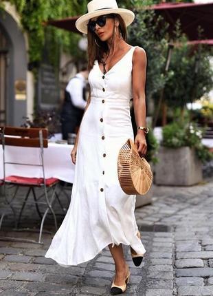Шикарное льняное платье mango m 38