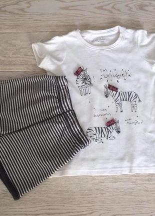 Пижама летняя от next из хлопка на 4-5 лет