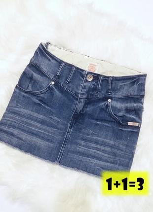 Superdry джинсовая юбка xs-s прямая синяя мини в обтяжку карандаш джинс весна миди