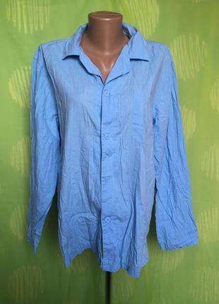 Голубая рубашка 46 р