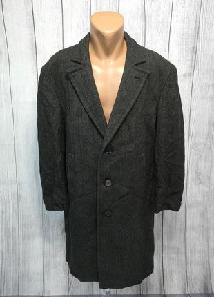 Пальто стильное твидовое пог-61, мин сл носк на подкл, оч хор сост!