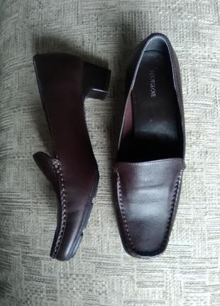 Туфли коричневые, кожа, 26,3см, footglove, англия