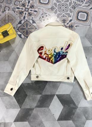 Джинсовая куртка от fandi