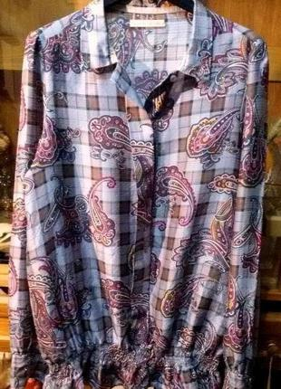 Стильная шелковая блуза,рубашка  replay,оригинал