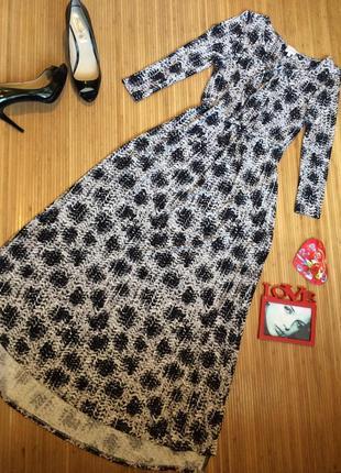 Стильное платье из вискозы, размер s