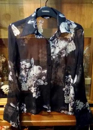 Воздушная,стильная шелковая рубашка,блуза  made in italy