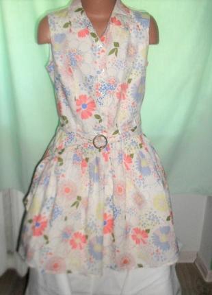 Легкое нежное платье на 9-10лет