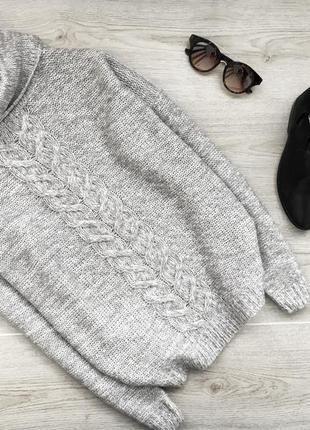 Красивый свитер/джемпер в косу janina