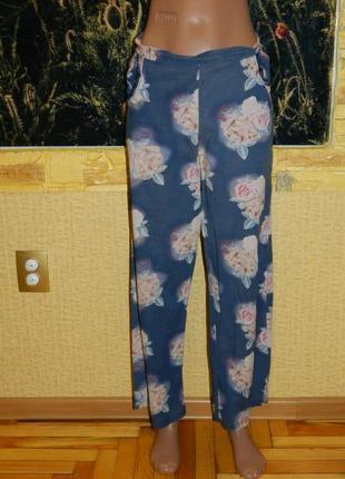 Штаны женские домашние синие с розами р. 44-46 next.